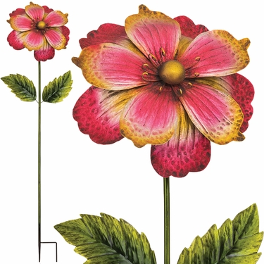 Giant Flower Stake - Pink/Gold (Set of 2) - Click to enlarge