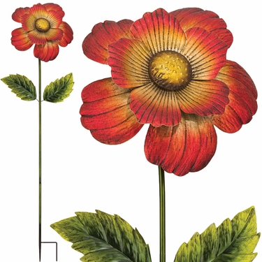 Giant Flower Stake - Red (Set of 2) - Click to enlarge