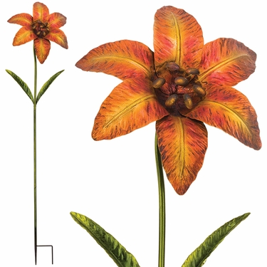 Giant Flower Stake - Yellow/Orange (Set of 2) - Click to enlarge