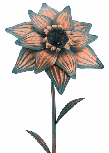 Giant Patina Daffodil Stake - Click to enlarge