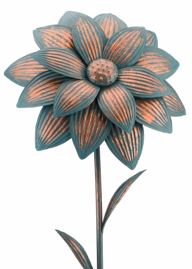 Giant Patina Dahlia Stake - Click to enlarge
