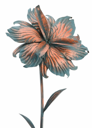 Giant Patina Iris Stake - Click to enlarge