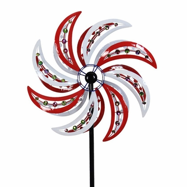 Giant Patriotic Beaded Wind Spinner - Click to enlarge