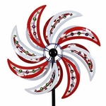 Giant Patriotic Beaded Wind Spinner