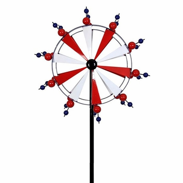 Giant Patriotic Pinwheel Wind Spinner - Click to enlarge