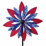 Giant Patriotic Red & Blue Wind Spinner