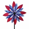 Giant Patriotic Magenta Pink & Blue Wind Spinner