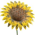 Giant Rustic Yellow Sunflower Stake
