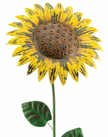 Giant Rustic Yellow Sunflower Stake (Set of 2) - Click to enlarge