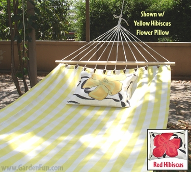 Gingham Yellow Fabric Hammock - Click to enlarge