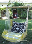 Gingham Yellow French Quarter Chair Swing Set