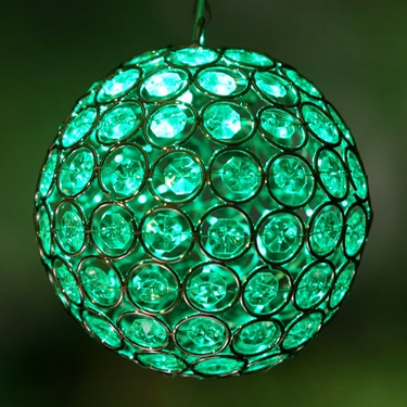 Glam Ball LED Lights - Green - Click to enlarge
