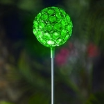 Glam Ball Powered Garden Stake - Green