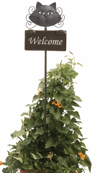 Glamour Cat Welcome Sign - Click to enlarge