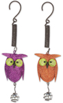 Glitter Metal Owl Bouncies (Set of 2)