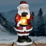 LED Santa w/Jar of Fireflies - Battery Powered