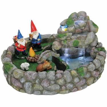 Gnome Fountain Kit w/LED Lights - Click to enlarge