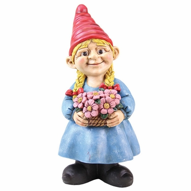 Gnome Girl w/Flower Basket - Click to enlarge