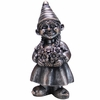 Gnome Girl w/Flowers - Gilver Finish