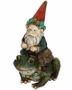 Gnome Riding on Frog