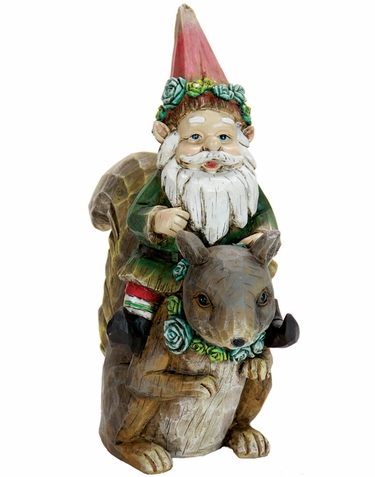 Gnome Riding on Squirrel - Click to enlarge