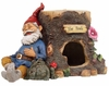 Gnome Sleeping on Toad House