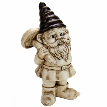 Gnome w/Mushroom - White Wash - Click to enlarge