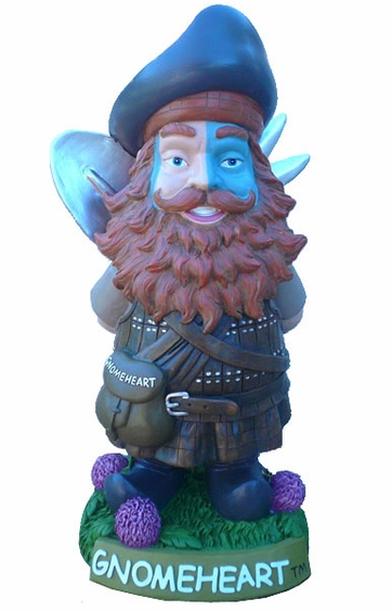 GnomeHeart - Brave Scottish Gnome - Click to enlarge