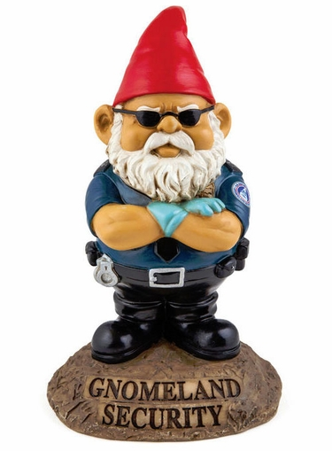 Gnomeland Security Gnome - Click to enlarge