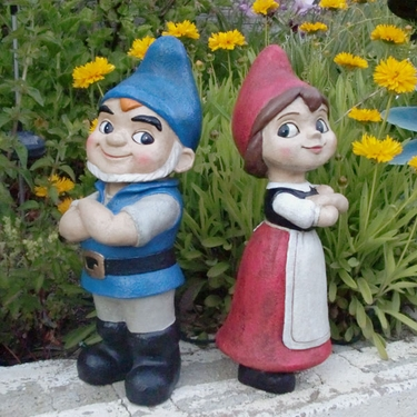 Gnomeo & Juliet Gnome Statues (Set of 2) - Click to enlarge