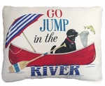 Go Jump in the River Outdoor Pillow