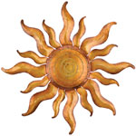 Gold Sun Wall Decor