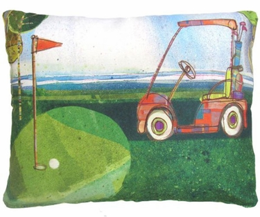 Golf Cart Outdoor Pillow - Click to enlarge