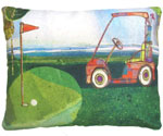 Golf Cart Outdoor Pillow