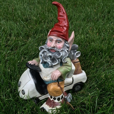 Golf Gnome in Golf Cart - Click to enlarge