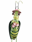 Grasshopper Girl Garden Decor