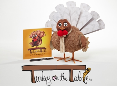 Gratitude Turkey w/Free Book - Thanksgiving Gift - Click to enlarge