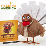 Gratitude Turkey w/Free Book - Thanksgiving Gift