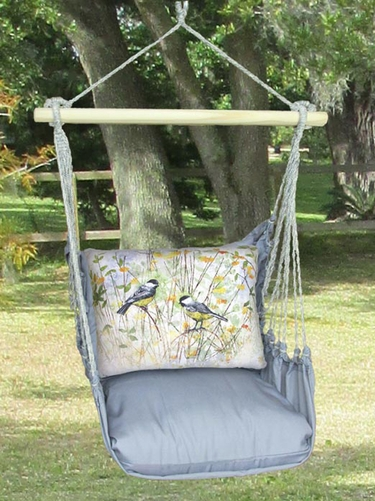 Gray Chickadees Hammock Chair Swing Set - Click to enlarge