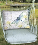 Gray Dragonfly w/Poppies Hammock Chair Swing Set