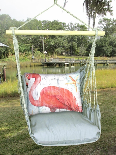 Gray Flamingo Hammock Chair Swing Set - Click to enlarge