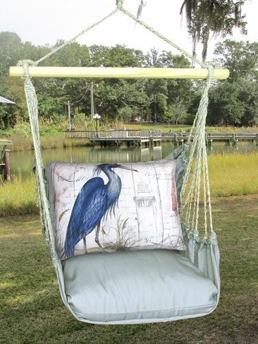 Gray Heron Hammock Chair Swing Set - Click to enlarge