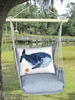 Gray Ocean Whale Hammock Chair Swing Set