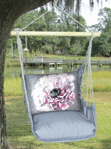 Gray Peony 1 Hammock Chair Swing Set - Click to enlarge