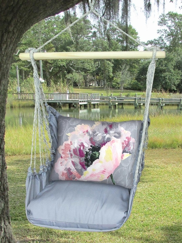 Gray Peony 2 Hammock Chair Swing Set - Click to enlarge