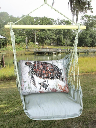Gray Turtle w/Baby Hammock Chair Swing Set - Click to enlarge