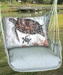 Gray Turtle w/Baby Hammock Chair Swing Set