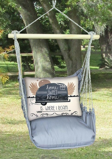 Gray Where I Roam Hammock Chair Swing Set - Click to enlarge