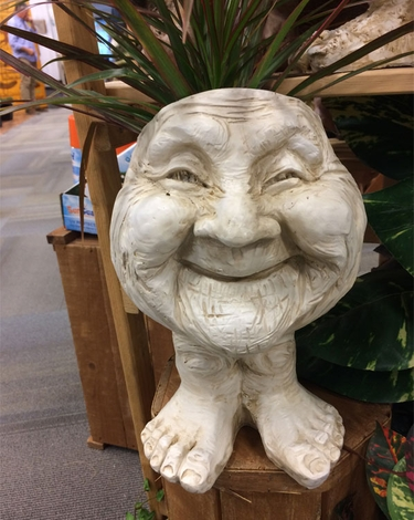 Great Aunt Joy Face Planter - Antique Finish - Click to enlarge