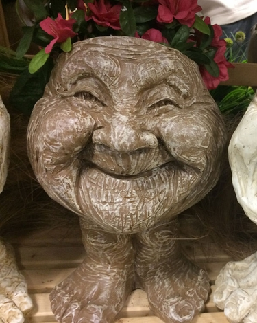 Great Aunt Joy Face Planter - Stone Wash Finish - Click to enlarge